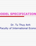 Slide Kinh tế lượng: Lecture 8 - Model Specifications