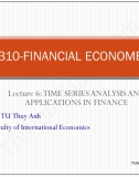 Slide Kinh tế lượng: Lecture 9- Time Series