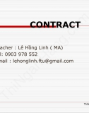 [Slide dịch hợp đồng] Chapter 3:  Negotiation inspection and defects liability