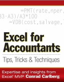 Excel for Accountants Tips, Tricks  Techniques by Conrad Carlberg